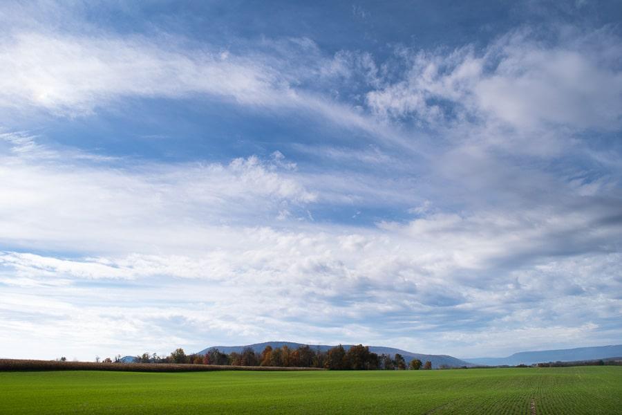 view of farmlands in Huntingdon