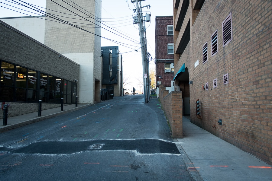 Alley in State College, Pennsylvania