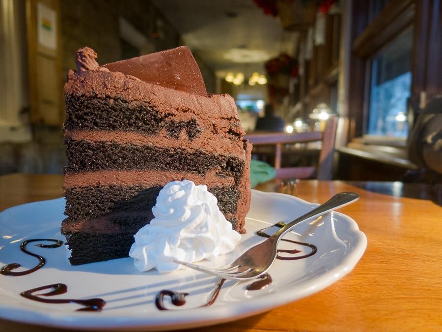 Chocolate cake at Duffy's Tavern