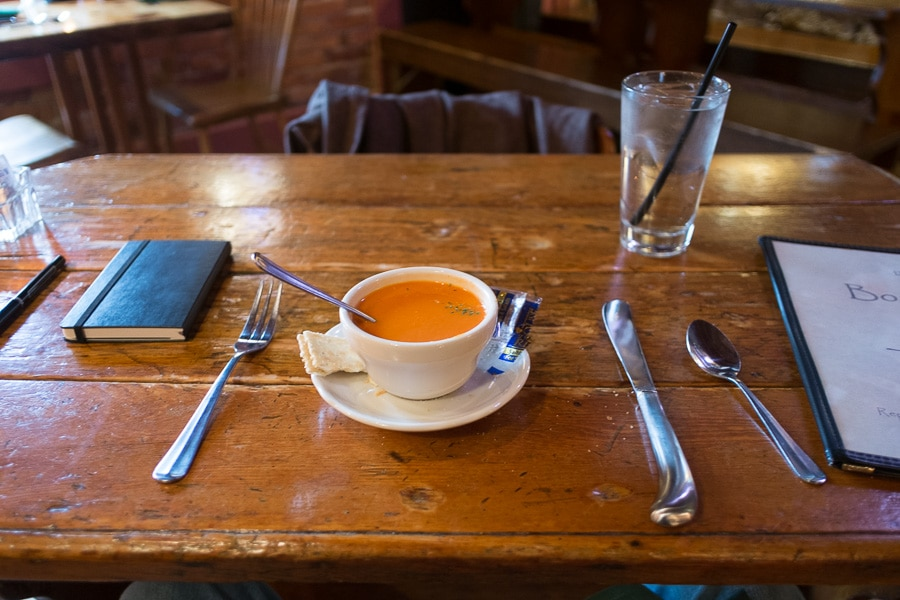 Tomato soup at Duffy's Tavern