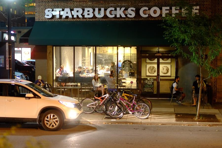 Starbucks at night