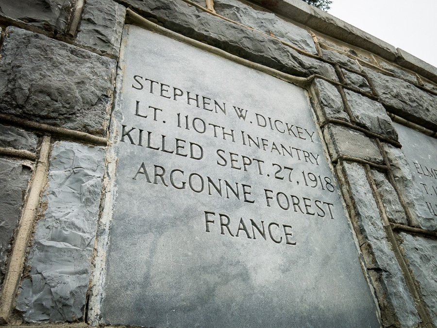 Soldier's name on memorial wall at the Pennsylvania Military Museum